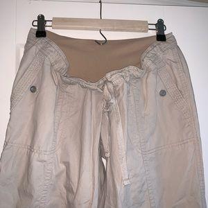 Full Panel Khaki Maternity Pants
